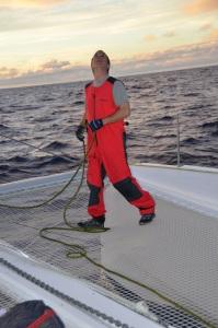 Hoisting Code D sail
