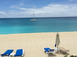 Anchored for lunch at La Samana, St. Martin