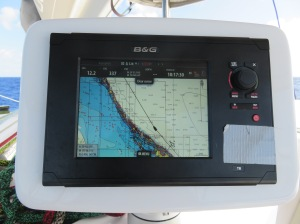 Ripping up the Exumas at 12.2 knots with moderate winds on a beam reach