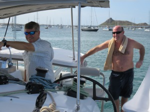 A pleasure to sail again with Captain Jan. Welcome to crewmate Joe.