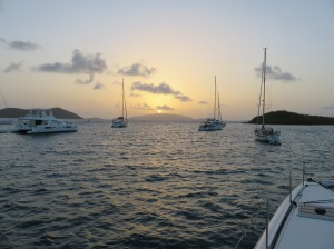 Sunrise this morning over Virgin Gorda.