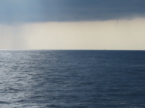 Twin Spouts off the Florida coast